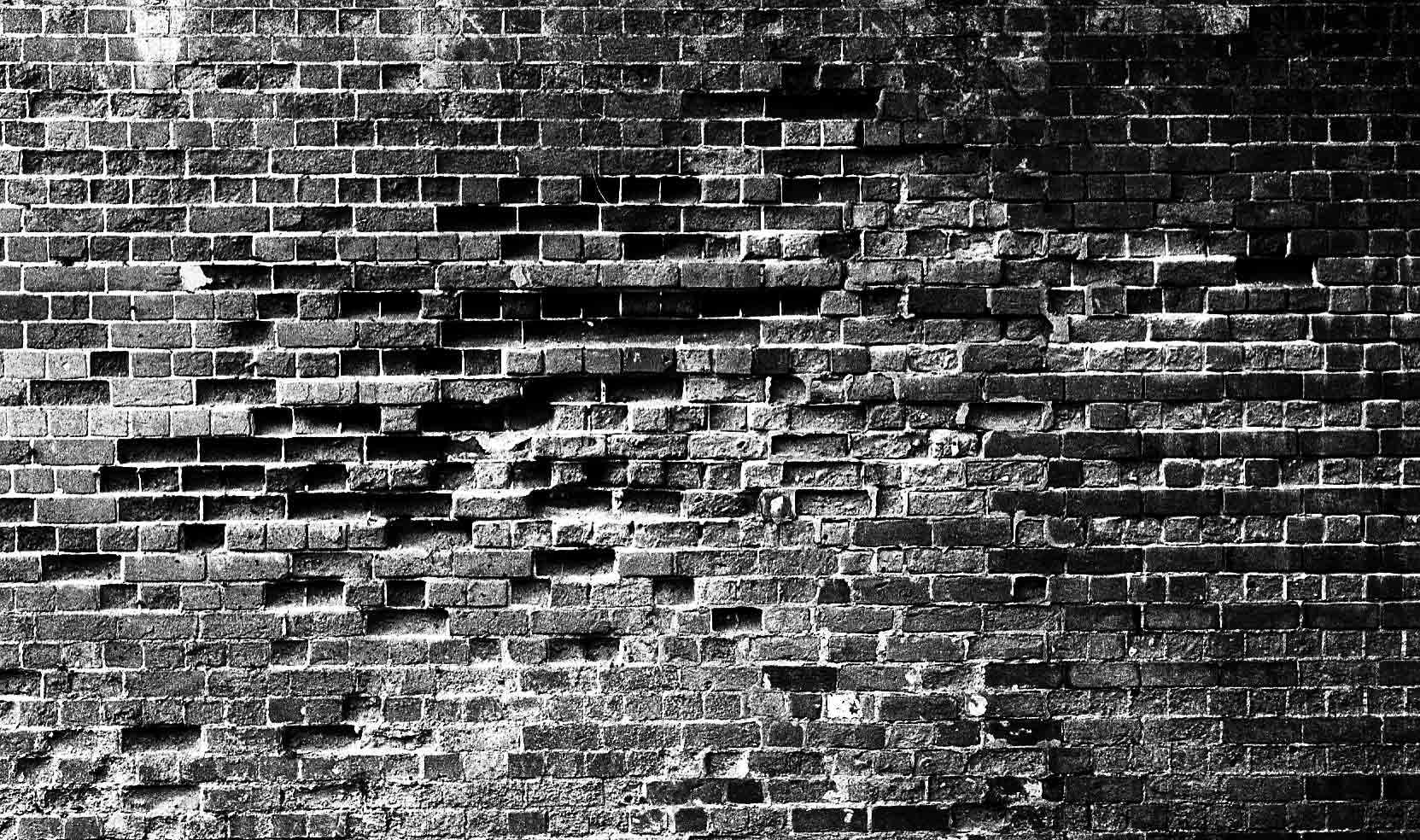 Brick wall yammerman 39 s blog for Black and white wallpaper for walls