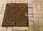 Manhole Blue Red